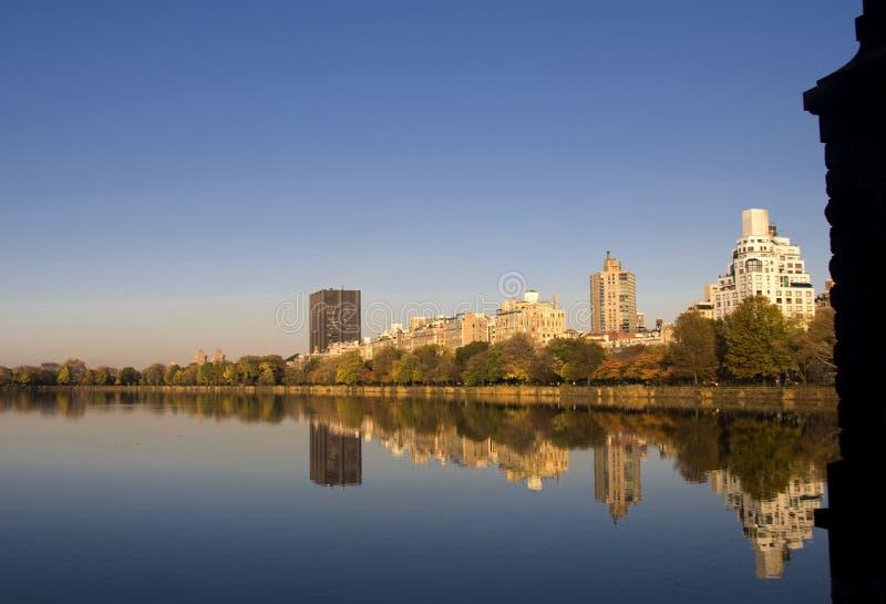 Central Park lake royalty free stock photos