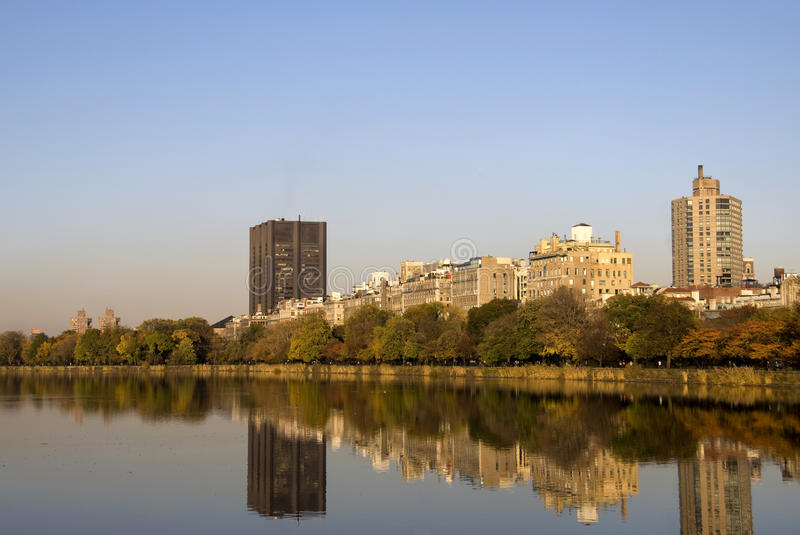 Central Park lake royalty free stock image