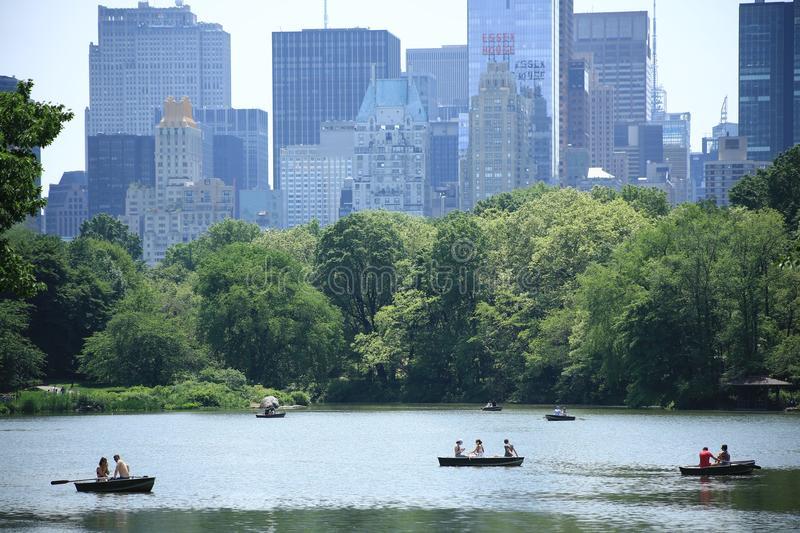 Central Park Lake arkivfoton