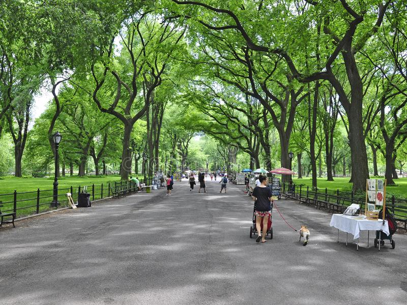Central Park Literary Walk stock images