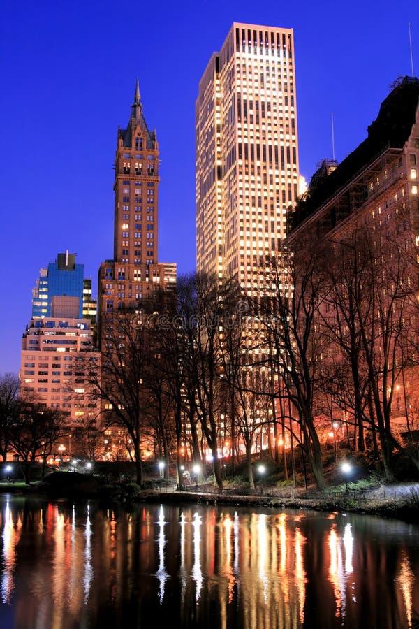 Central Park and manhattan skyline, New York City stock photos