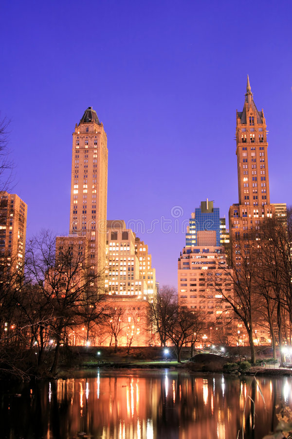 Central Park and manhattan skyline, New York City royalty free stock photo
