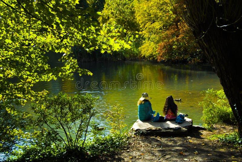 Central Park in medio stad Manhatan royalty-vrije stock fotografie