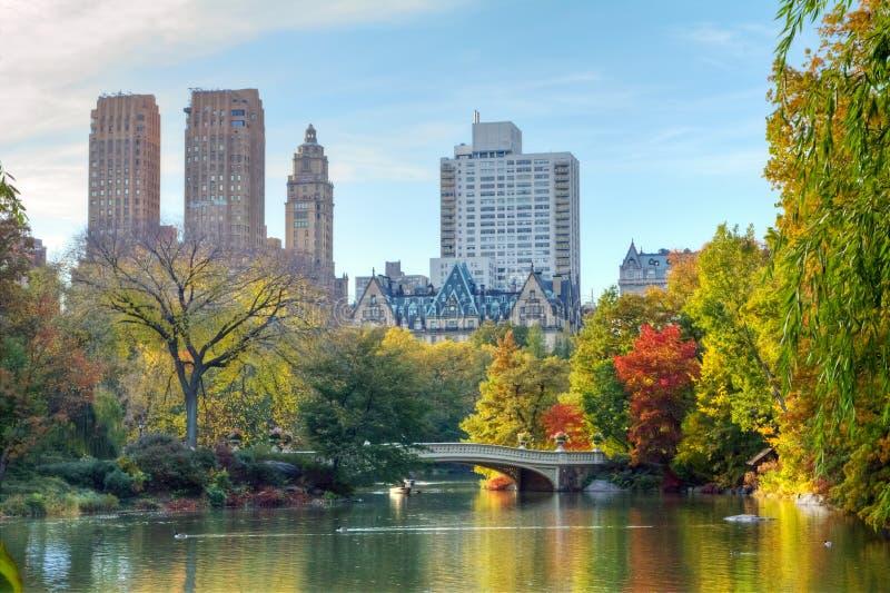 Central Park na queda fotografia de stock royalty free