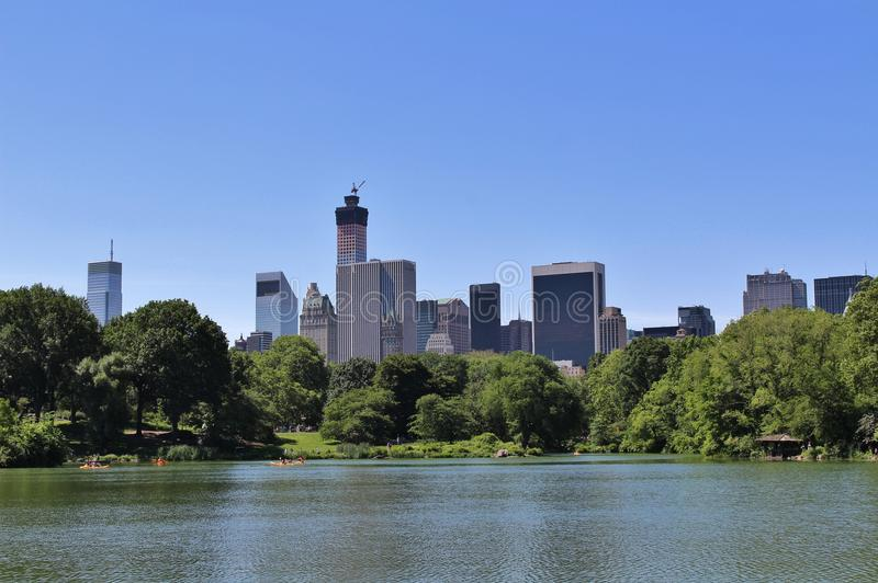 Download Central Park, New York stock afbeelding. Afbeelding bestaande uit boten - 54080553