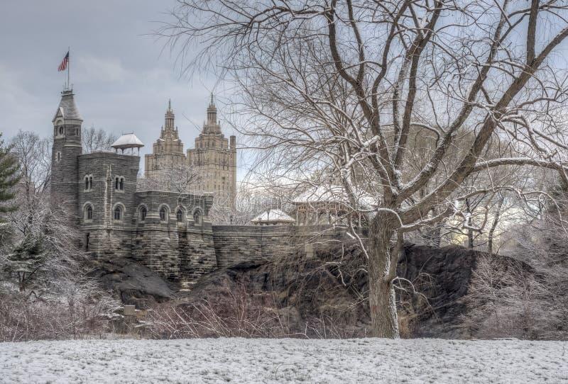 Central Park, New York City, château de belvédère photographie stock