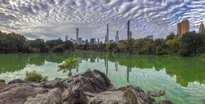 Central Park in late summer royalty free stock photos