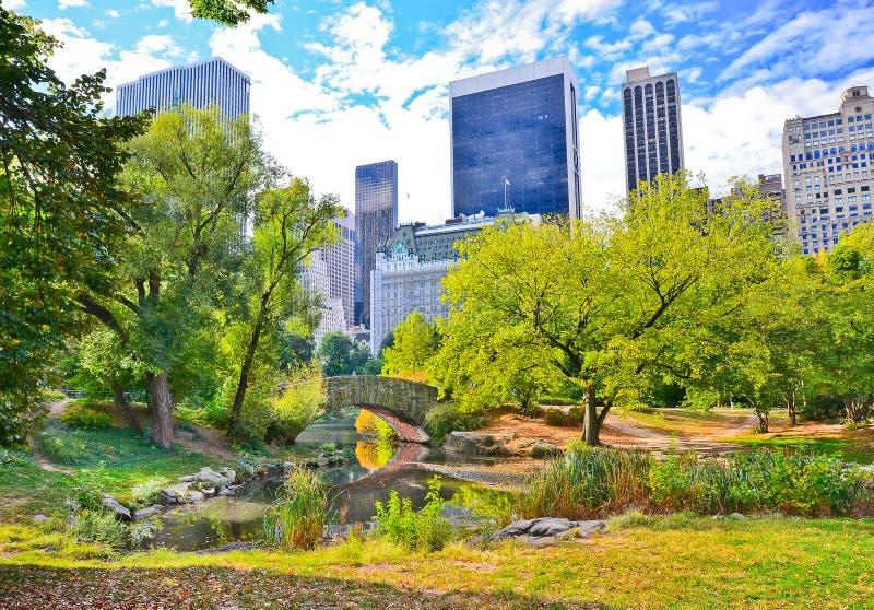 Central Park in New York City im Herbst lizenzfreies stockbild