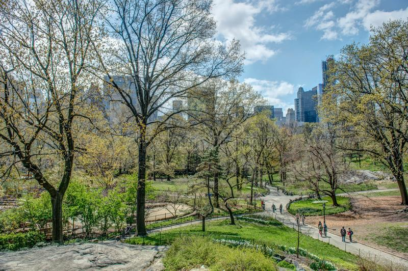 Central Park NYC spring stock photography