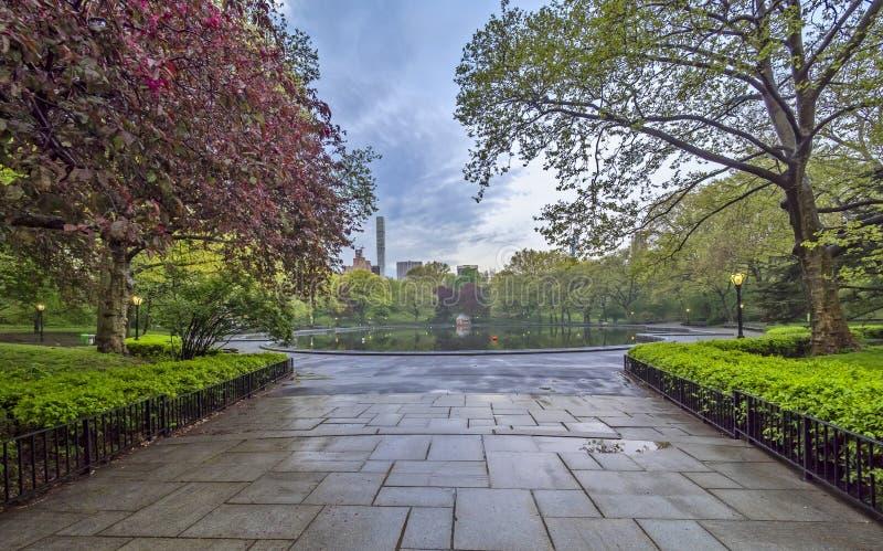 Central Park, New York City spring royalty free stock photos