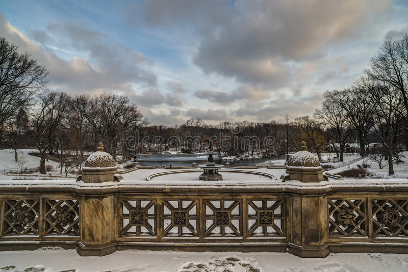 Central Park, Terrasse New York City Bethesda lizenzfreie stockfotos