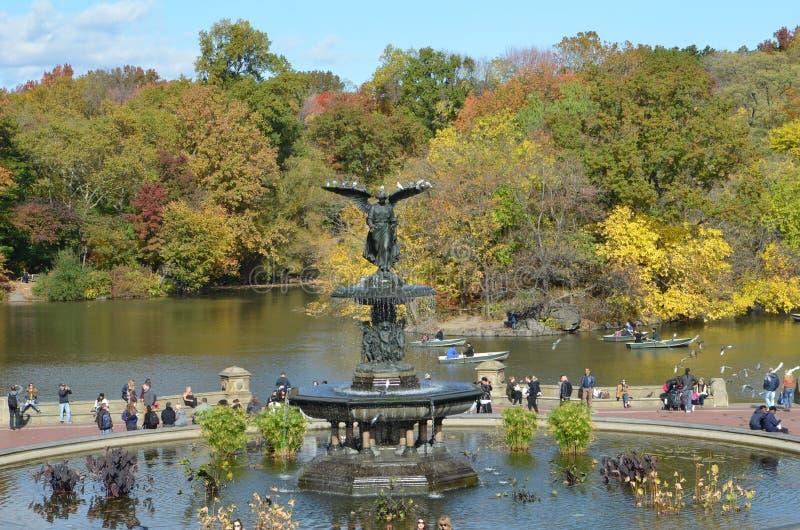 Central Park no outono, NYC, EUA fotografia de stock royalty free