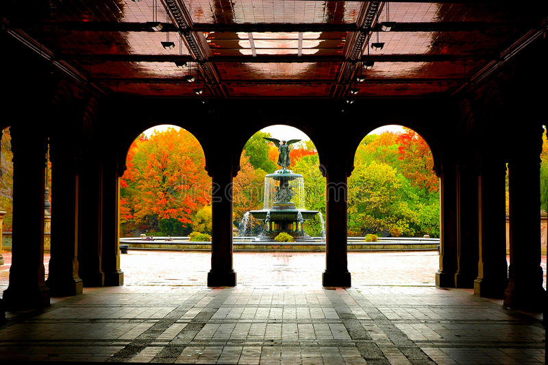 Central Park, NY. Autum in New York's Central Park stock photography