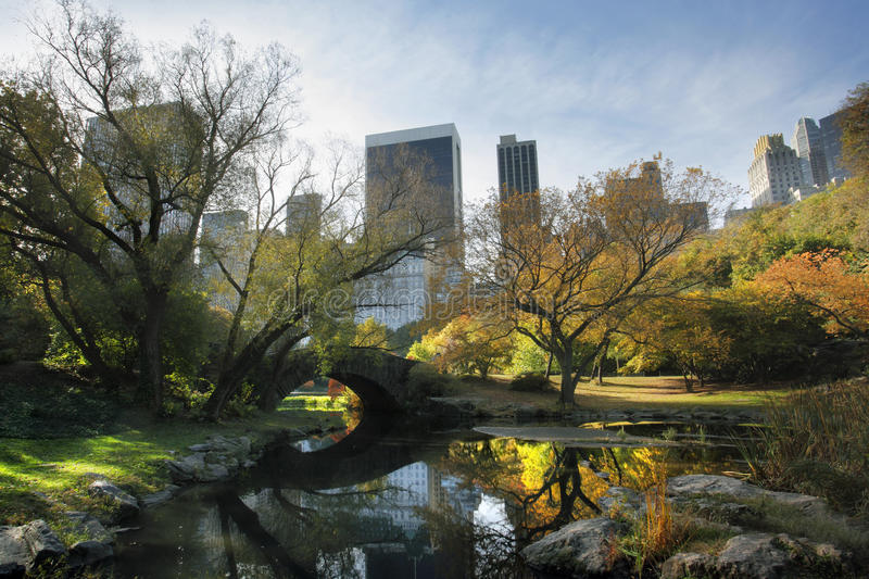 Central Park in NYC. Photo of Central Park in NYC in November royalty free stock photo