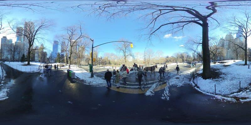Central Park NYC na een lichte sneeuw -4 stock foto