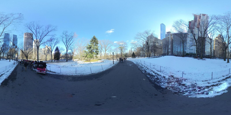 Central Park NYC po lekkiego śniegu -2 fotografia stock