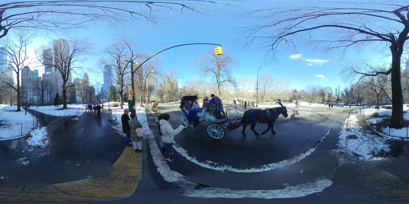 Central Park NYC po lekkiego śniegu -3 fotografia royalty free