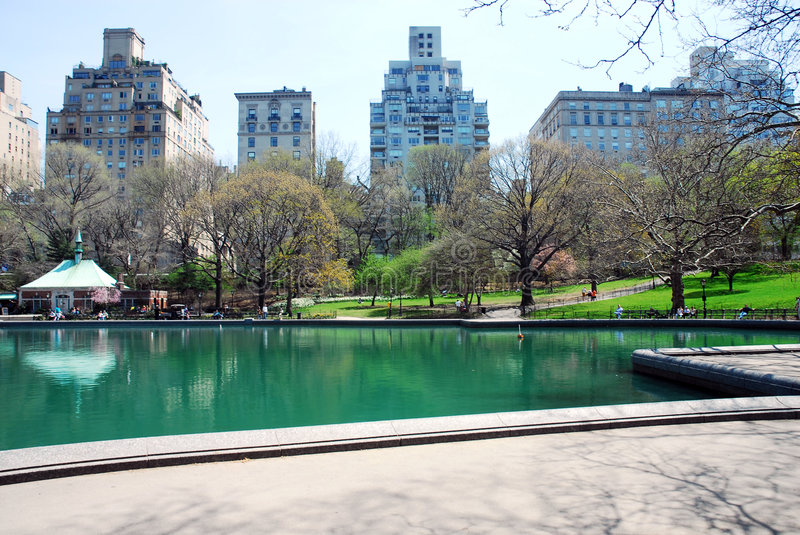 Central Park NYC in primavera immagine stock