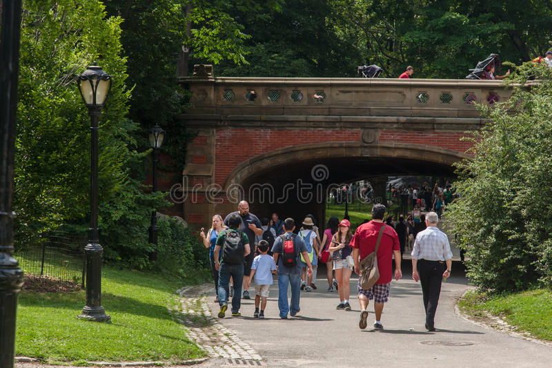 Download Central Park Path New York City Editorial Image - Image: 26642325