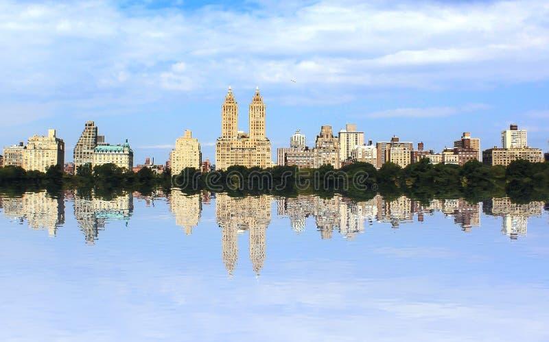 Central Park-Reflexionen lizenzfreie stockfotos