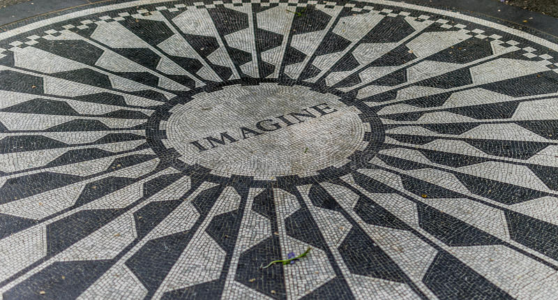 Central Park Strawberry Fields de New York City imagens de stock