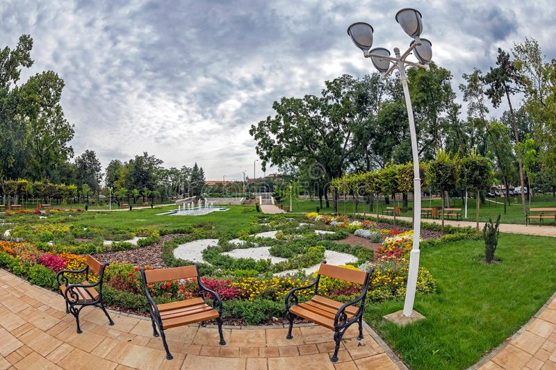 Central Park from Timisoara, Romania. Background in Central Park from Timisoara, Romania stock images