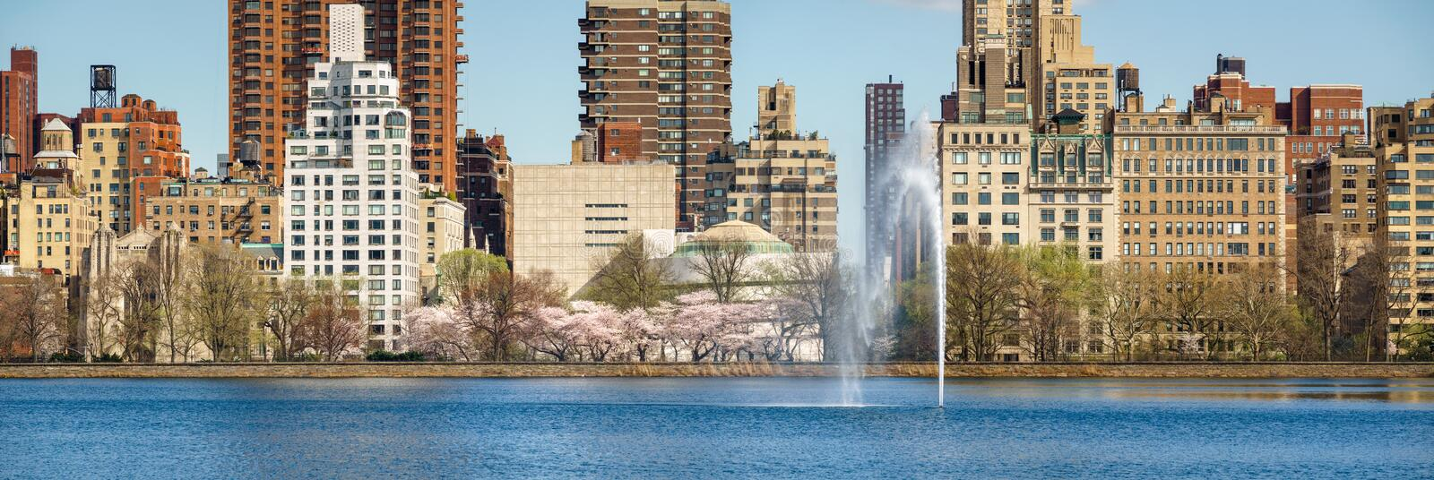 Central Park and Upper East Side in Spring, New York royalty free stock images