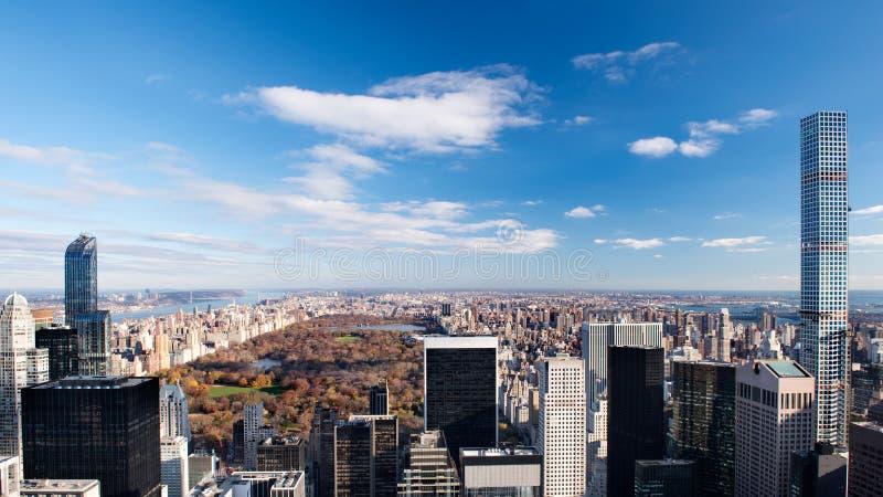 Central Park von der Spitze des Felsens lizenzfreie stockbilder