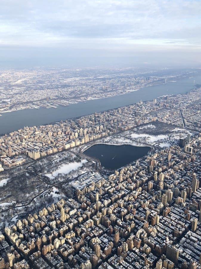 Central Park von 10000 Fuß lizenzfreie stockfotos