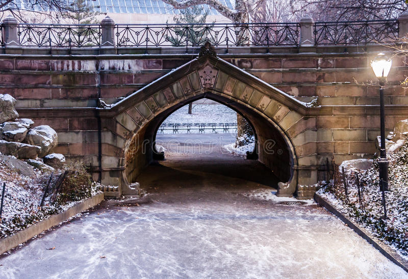 Central Park-Weg New York City lizenzfreie stockfotografie