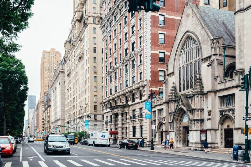Central Park-Westallee in New York City lizenzfreies stockbild