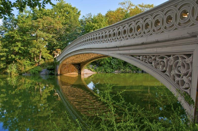 Central Park y puente del arco, Nueva York imagenes de archivo