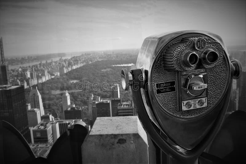 Central Park z wierzchu skały fotografia royalty free