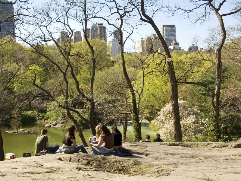 Central- Parkansicht stockfotos