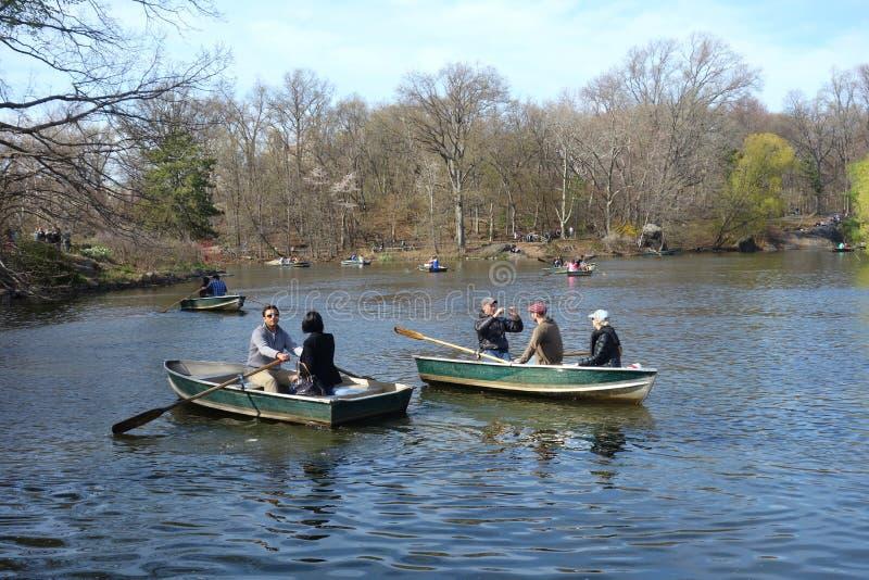 Central Parkboten stock afbeelding