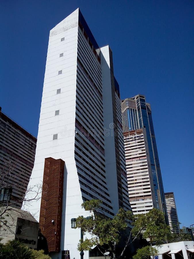 Central Parkkomplexet står högt Caracas Venezuela arkivfoton