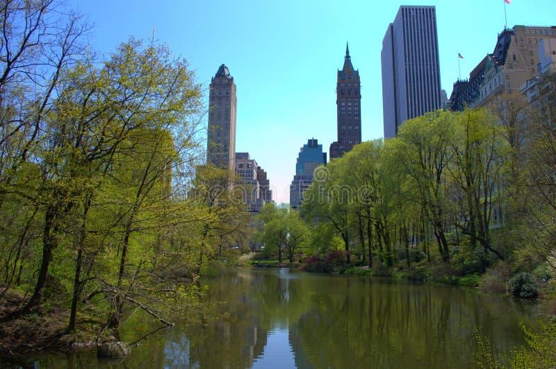 Central Parkmeer stock foto