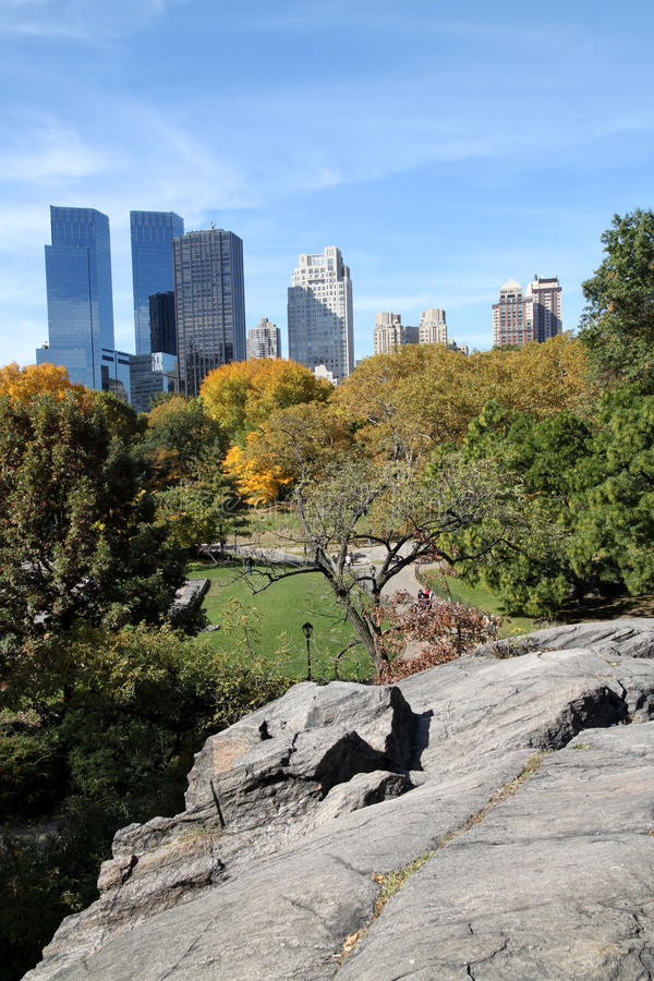 Central- ParkSkyline stockfoto