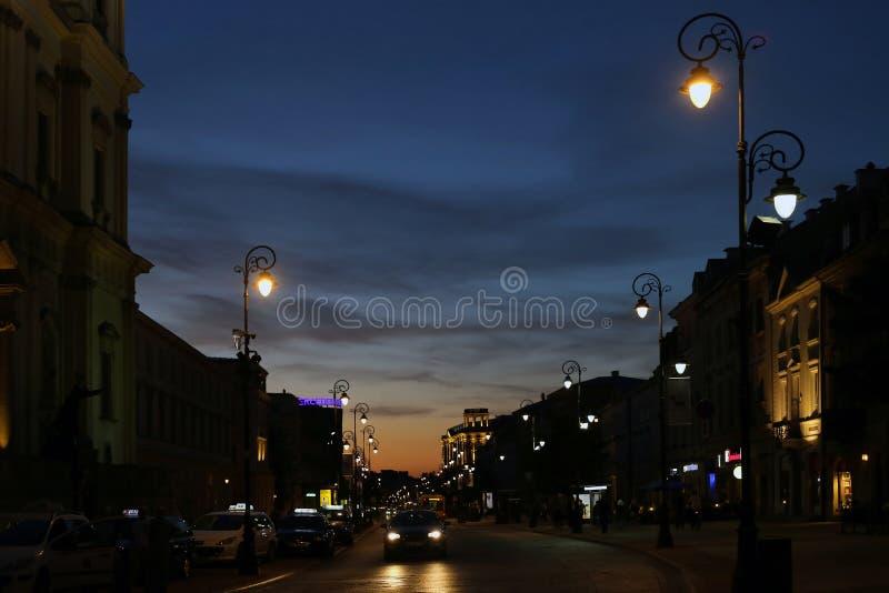 The central pedestrian street Krakow suburb stock photography