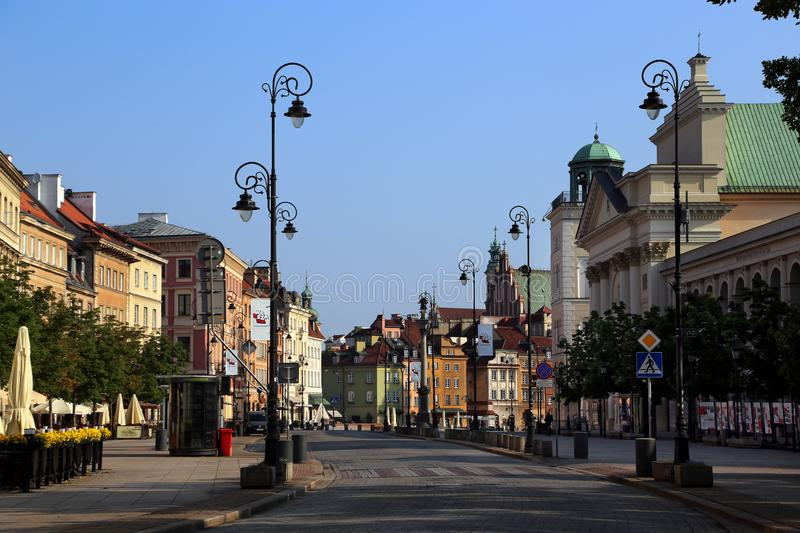 The central pedestrian street Krakow suburb royalty free stock images