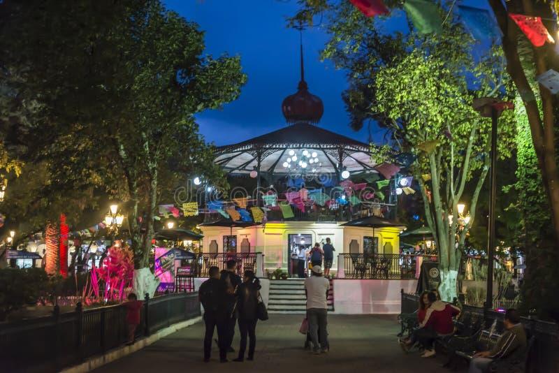 Central Plaza, San Cristobal de Las Casas, Chiapas, Mexico fotografering för bildbyråer