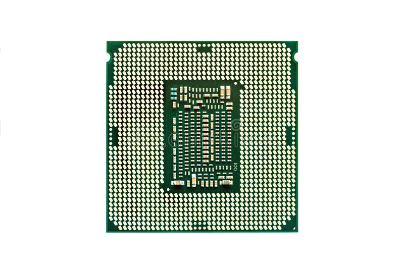 Central processing unit chip.CPU isolated on white. Central processing unit, chip CPU x64 many-core processor with hyper-threading, isolated on white background stock photos