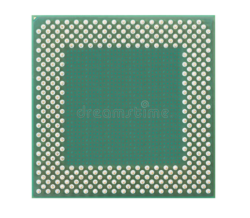 Central processing unit or Computer chip. Computer processors or Central processing unit CPU isolated on white background stock photos