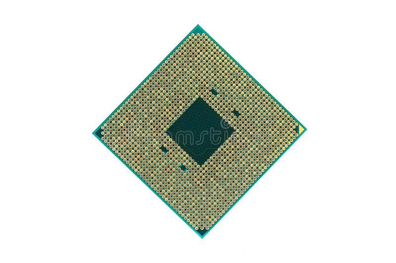 Central processing unit, CPU isolated on white background. royalty free stock images