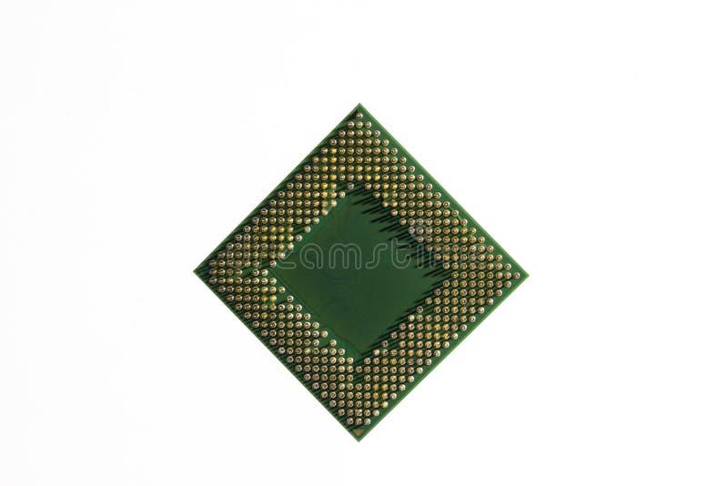 Central processor CPU är en hjärta av mest elektroniska strömkretsar som centraliserade alla kommandon och som samtidigt bearbeta arkivfoto