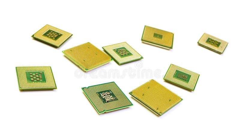 Central processor för dator på en ljus bakgrund arkivbild