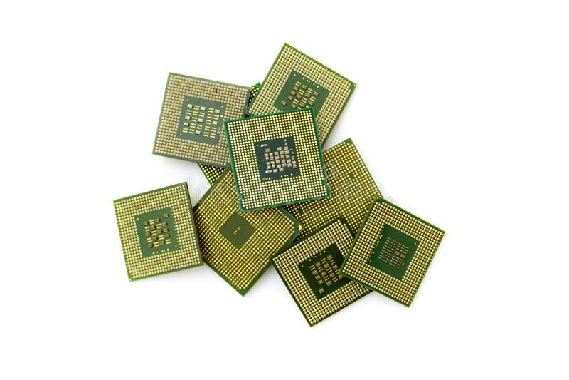 Central processor för dator på en ljus bakgrund arkivfoton