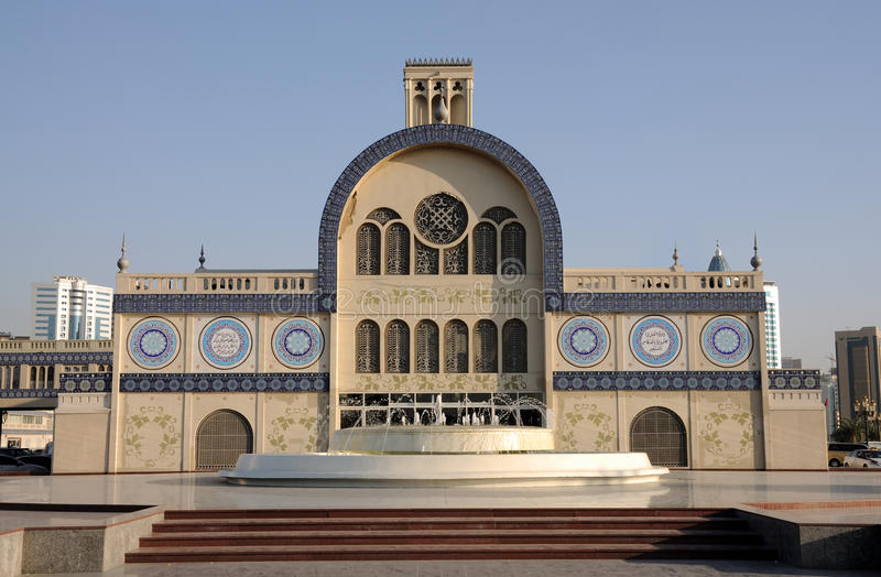 central sharjah souq royaltyfri bild