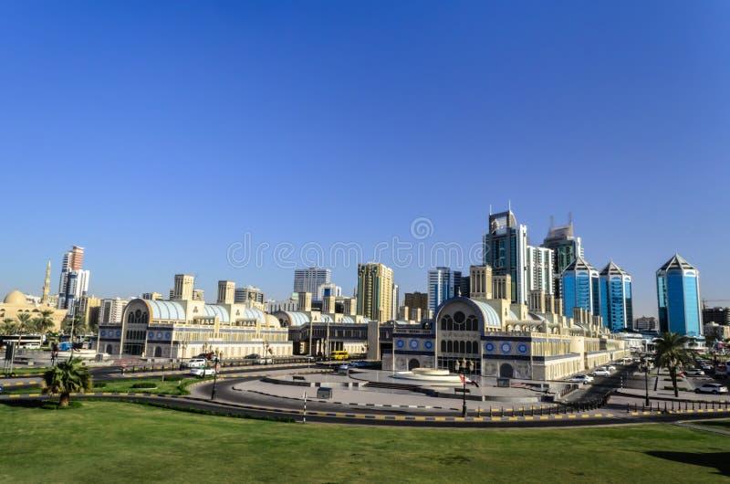 Central Sharjah UAE stock image