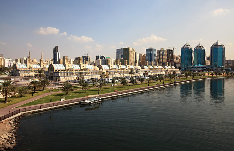 Central Souq de Sharja. foto de archivo libre de regalías